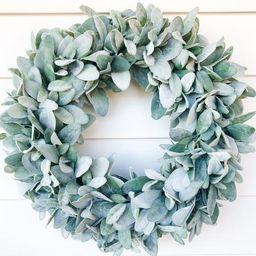 Year Round Lambs Ear Wreath| Farmhouse Wreath  |Greenery Wreath | Spring Wreath |Winter Wreath | ... | Etsy (US)