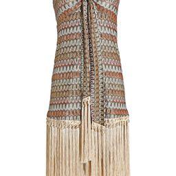 Tavia Strapless Fringed Knit Dress   INTERMIX