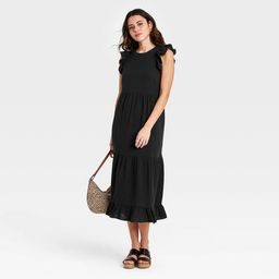 Women's Ruffle Sleeveless Tiered Dress - Universal Thread™   Target