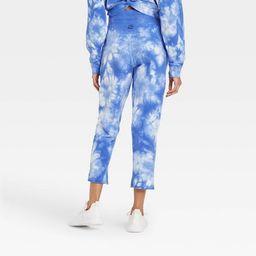 Women's High-Rise Cropped Straight Leg Jogger Pants with Raw Hem - JoyLab™   Target
