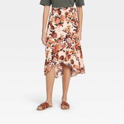 Women's Floral Print Maxi Wrap Skirt - Knox Rose™ | Target