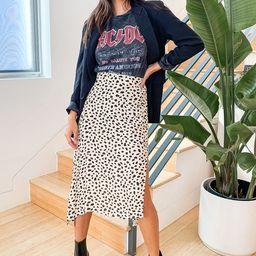 Set a Trend Cream Cheetah Print Midi Skirt | Lulus (US)