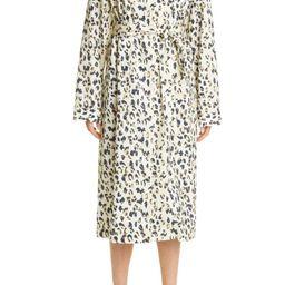 REMAIN Birger Christensen Berna Leopard Print Long Sleeve Midi Shirtdress | Nordstrom | Nordstrom