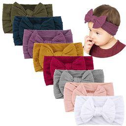 Makone Handmade Baby Headbands Stretchy Nylon Headband with Bows for Infant Baby Toddler Girls- P... | Amazon (US)