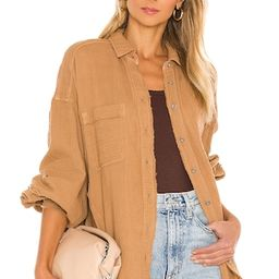 Free People Anaheim Double Cloth Top in Camel from Revolve.com | Revolve Clothing (Global)