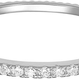 PAVOI 14K Gold Plated Sterling Silver CZ Simulated Diamond Stackable Ring Eternity Bands for Wome... | Amazon (US)