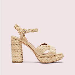 disco raffia platform sandals | Kate Spade (US)