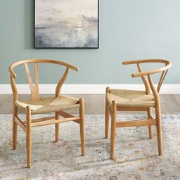The Curated Nomad Lumos Bamboo Wood and Rope Dining Chairs (Set of 2) | Overstock