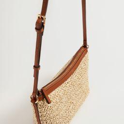Raffia braided bag   MANGO (UK)