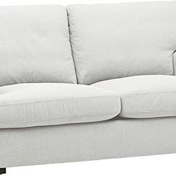 "Amazon Brand – Stone & Beam Lauren Down-Filled Oversized Loveseat Sofa, 74""W, Pearl | Amazon (US)"