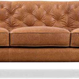 Poly and Bark Essex Sofa in Full-Grain Pure-Aniline Italian Tanned Leather in Cognac Tan | Amazon (US)