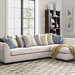 Acanva Luxury Contemporary Chenille Sofa Set L-Shape 2-Piece Living Room Couch with Chaise Lounge... | Amazon (US)