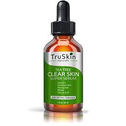 TruSkin Tea Tree Clear Skin Serum with Vitamin C, Salicylic Acid & Retinol, 1fl oz   Amazon (US)