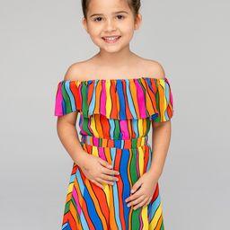 Ainsley Girl's Top and Skirt Set - Rainbow Bright | BuddyLove