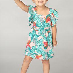 Shiloh Girl's Flutter Sleeve Dress - Hibiscus | BuddyLove