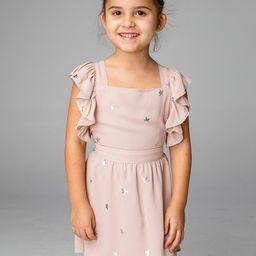 Shiloh Girl's Flutter Sleeve Dress - Stardust | BuddyLove