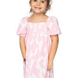 Kennedy Girl's Baby Doll Dress - Abstract Pink | BuddyLove