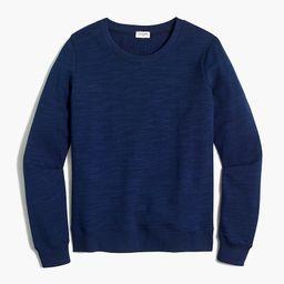 Cotton terry crewneck sweatshirt | J.Crew Factory