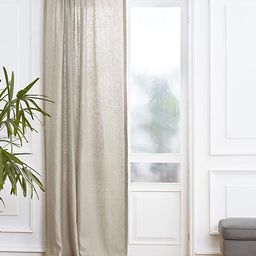 Solino Home 100% Pure Linen Curtain – 52 x 108 Inch Natural Lightweight Rod Pocket Window Panel...   Amazon (US)