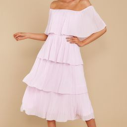 See It Happen Cream Pink Midi Dress | Red Dress