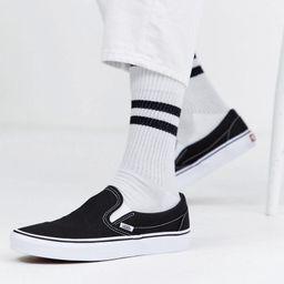 Vans Classic Slip-On sneakers in black and white | ASOS (Global)