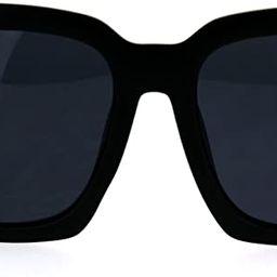 SUPER Oversized Square Sunglasses Womens Modern Hipster Fashion Shades | Amazon (US)