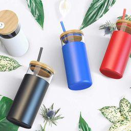 Tronco 20oz Glass Tumbler Straw Silicone Protective Sleeve Bamboo Lid - BPA Free | Amazon (CA)
