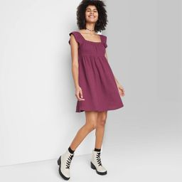 Women's Ruffle Sleeve On/Off the Shoulder Woven Babydoll Dress - Wild Fable™ | Target