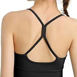 Women Padded Sports Bra Fitness Workout Running Shirts Yoga Tank Top | Amazon (CA)
