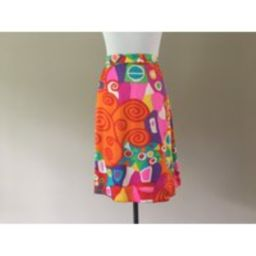 90's Silk Satin Skirt, Early 1990's Colorful Color Pop Knee Length Large, 12 Block   Etsy (US)