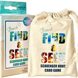 Hapinest Find and Seek Scavenger Hunt Outdoor Indoor Card Game for Kids, Beach Edition | Amazon (US)