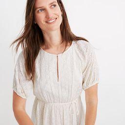 Eyelet Tassel-Tie Mini Dress   Madewell
