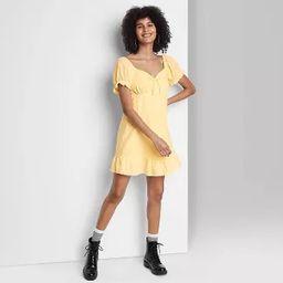 Women's Short Sleeve Sweetheart Ruffle with Tie-Back Dress - Wild Fable™ | Target