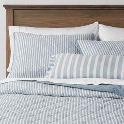Connelly Stripe Quilt Set Blue - Threshold™ | Target