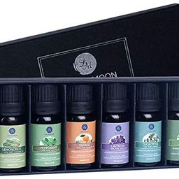 Lagunamoon Essential Oils Top 6 Gift Set Pure Essential Oils for Diffuser, Humidifier, Massage, A... | Amazon (US)