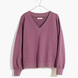 Hemp-Cotton V-Neck Sweatshirt | Madewell