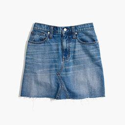 Rigid Denim A-Line Mini Skirt in Lakeline Wash: Eco Edition | Madewell