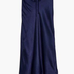 Drawstring Midi Slip Skirt | Madewell