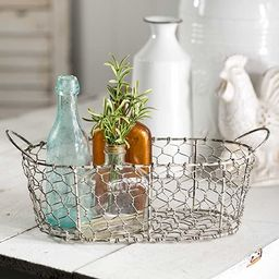 Oval Chicken Wire Basket with Handles by Colonial Tin-Works | Amazon (US)