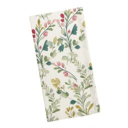 Ivory, Rust and Green Floral Napkins Set of 2 | World Market