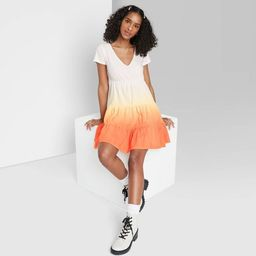 Women's Short Sleeve Tiered Knit Babydoll Dress - Wild Fable™ | Target