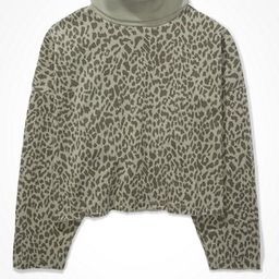 AE Forever Cropped Turtleneck Sweatshirt | American Eagle Outfitters (US & CA)