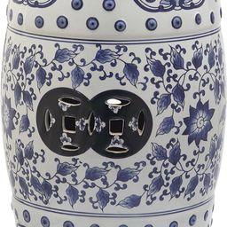 Safavieh Tao Ceramic Decorative Garden Stool, Blue and White | Amazon (US)