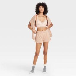 Women's Fleece Lounge Shorts - Colsie™ Brown | Target