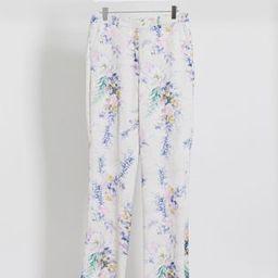 ASOS DESIGN wide leg suit pants two-piece in floral print | ASOS (Global)