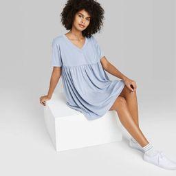 Women's Short Sleeve Babydoll Sweatshirt Dress - Wild Fable™   Target
