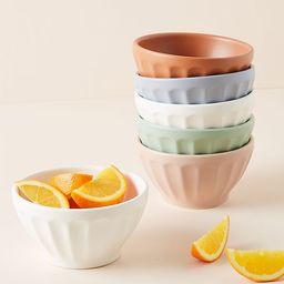 Matte Latte Bowls, Set of 6 | Anthropologie (US)