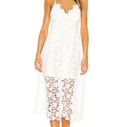 ASTR the Label Lace A Line Midi Dress in White from Revolve.com   Revolve Clothing (Global)