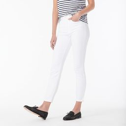 """9"""" high-rise toothpick jean in white 