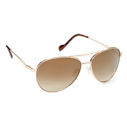 Jessica Simpson Collection Women's Sunglasses GLDTS - Brown & Gold Aviator Sunglasses | Zulily